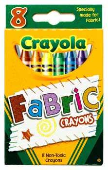 CRAYOLA FABRIC CRAYONS PACK 8