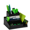 Italplast Green-R Desk Tidy (Square) Black